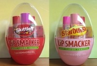 Skittles and Starburst flavored Lip Smacker
