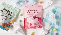 SmashMallow flavors include Cinnamon Churro, Strawberries & Cream, Espresso Bean, Mint Chocolate Chip, Toasted Coconut Pineapple, Meyer Lemon Chia Seed and Root Beer Float